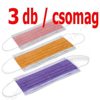 VÉDŐMASZK – színes, papírból (3 db / csomag)