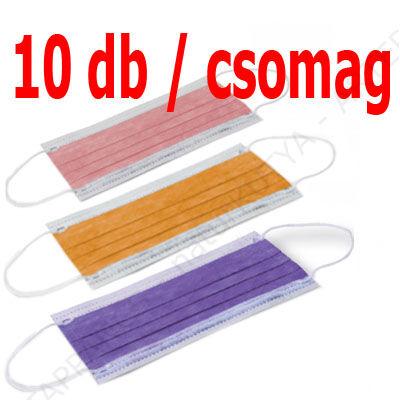 VÉDŐMASZK – színes, papírból (10 db / csomag)