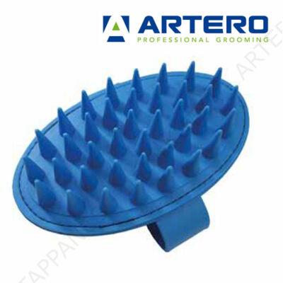 SAMPONOZÓ, fürdető gumi kefe (kék, hosszú, ritka fogú)